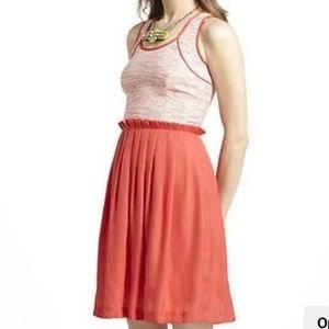 Hunter Dixon Coral Dress Antheopologie sz 14